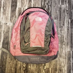 The North Face Vault backpack pink and gray